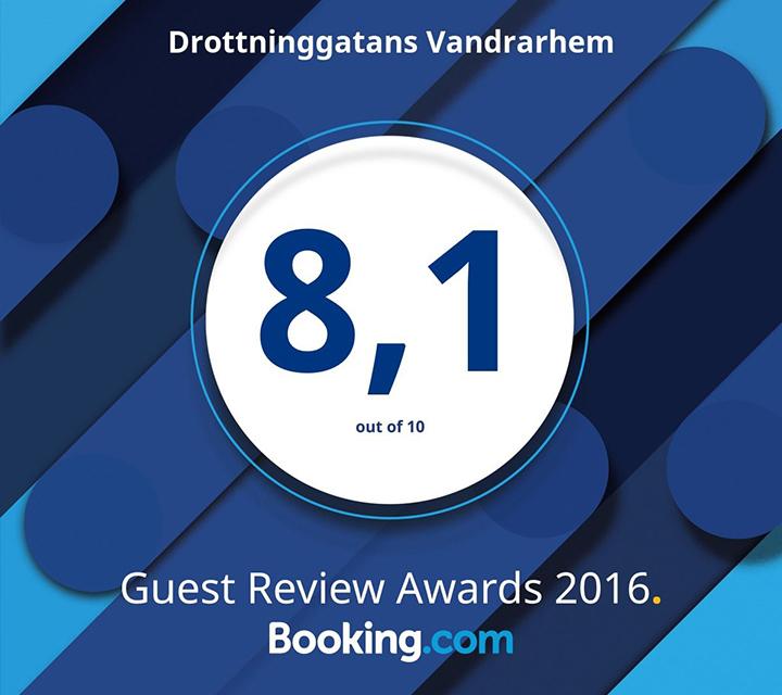 Högst snittbetyg på Booking.com 2016