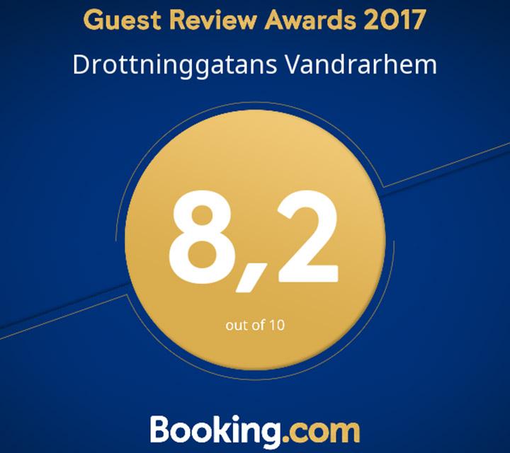 Högst snittbetyg på Booking.com 2017