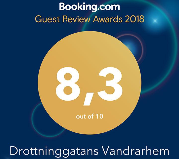 Högst snittbetyg på Booking.com 2018