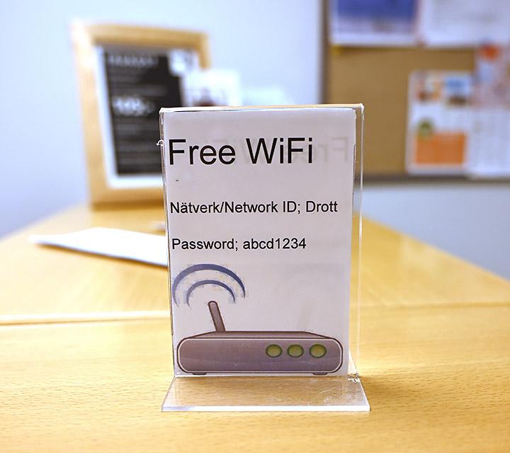 Drottninggatans Vandrarhem, Gratis WiFi