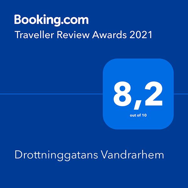 Högst snittbetyg på Booking.com 2021